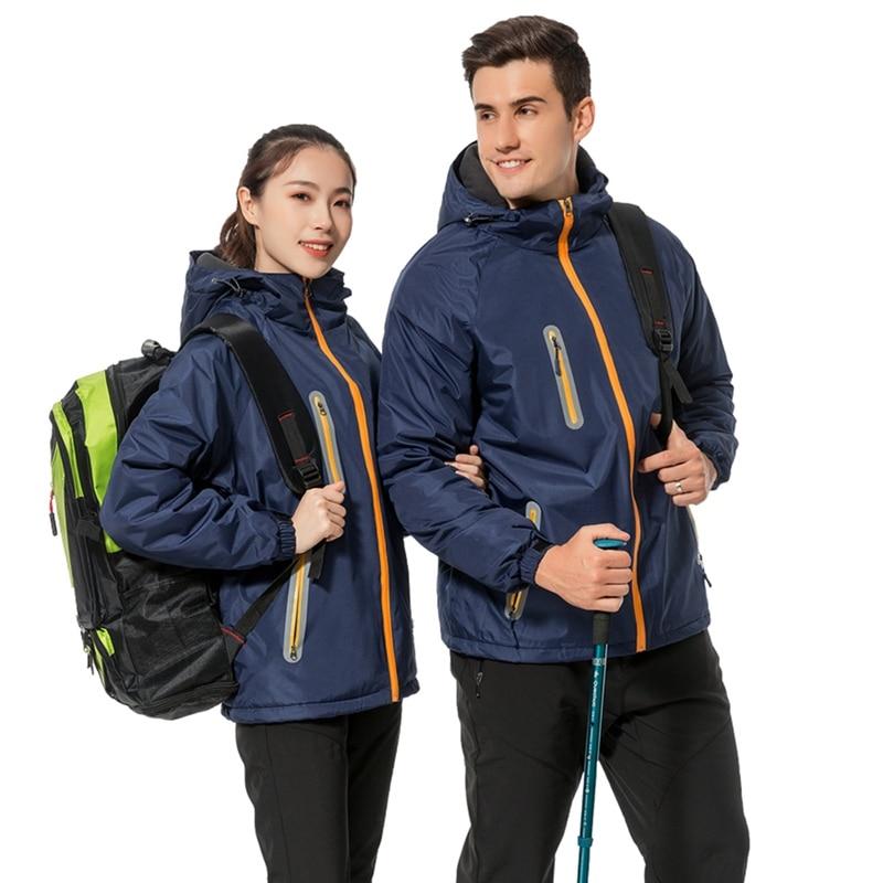 Hommes femmes en plein air veste chauffante coupe-vent imperméable coupe-vent Camping randonnée veste manteau pour pêche Ski vestes