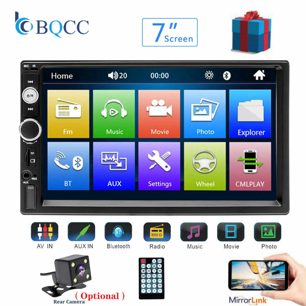"Universal 2 din Car Multimedia Player Autoradio 2din Stereo 7"" Touch Screen Video MP5  Auto Radio Backup Camera"