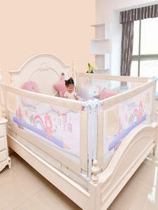 Playground Barrier Fence Gate Rails Bed Side-Bumper Safety Foldable Baby for Kids