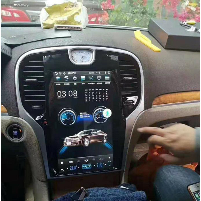 Chogath 10.4inch Car Multimedia Player Android 7.1 Car Gps Navigation 2+32G Tesla Screen For Chrysler 300C 2013-2019