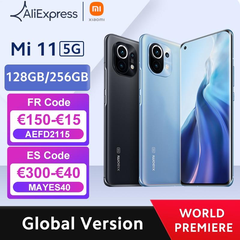 【World Premiere】Global Version Xiaomi Mi 11 Smartphone 8GB RAM 128GB ROM Snapdragon 888 Octa Core 55W Fast Charge 120Hz AMOLED Cellphones  - AliExpress