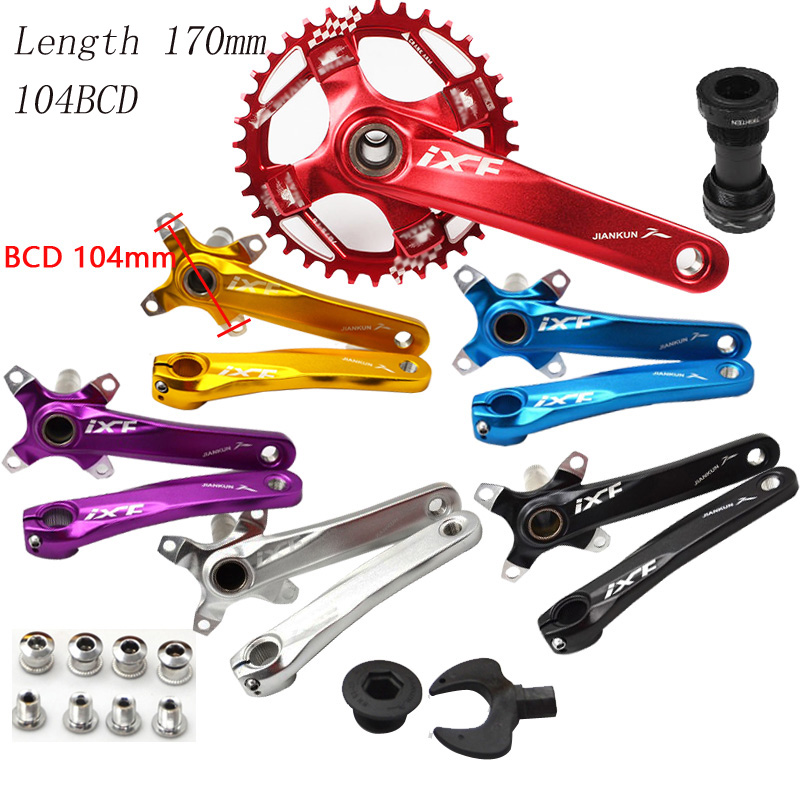 Bicycle crank 104 mm BCD 170 mm bike connecting Rods MTB bicycle Crankset Crank