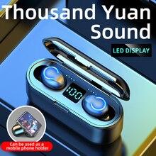 New F9 8 Bluetooth Earphones Wireless V5.0 Headphones TWS Earphones Hifi Sports Waterproof Wireless Earphone Headset Earbuds