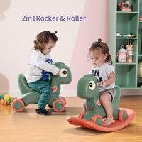 Sunveno Baby Shining Horse Toy Infant Shining Kids Animal Rocking Horses Ride on Toys 12 36M