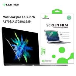 Защита экрана для MacBook Pro, 13 дюймов, 2016-2019 с или с сенсорной панелью A1708/A1989, HD прозрачная пленка с гидрофобным покрытием
