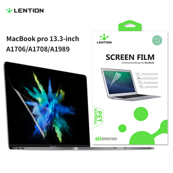Protetor de tela para macbook pro 13 polegadas 2016-2019 com ou com barra de toque a1708/a1989, filme claro hd com revestimento hidrofóbico