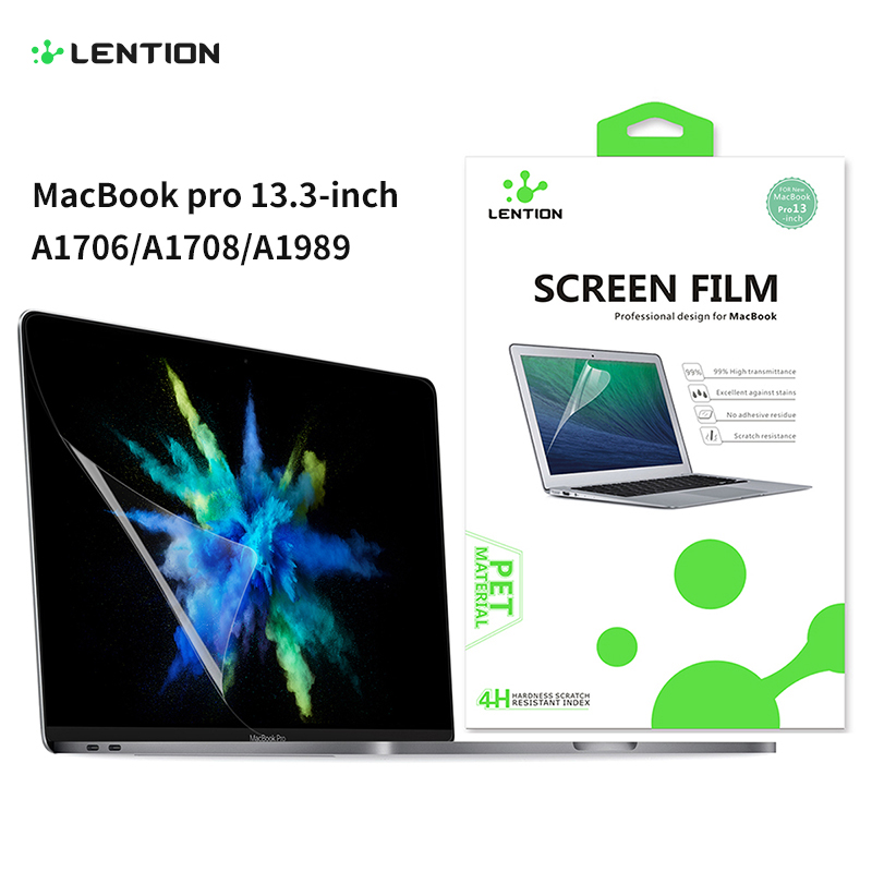 Screen Protector For MacBook Pro 13-inch 2016-2019 With Or W/Out Touch Bar A1708/A2159, HD Clear Film With Hydrophobic Coating