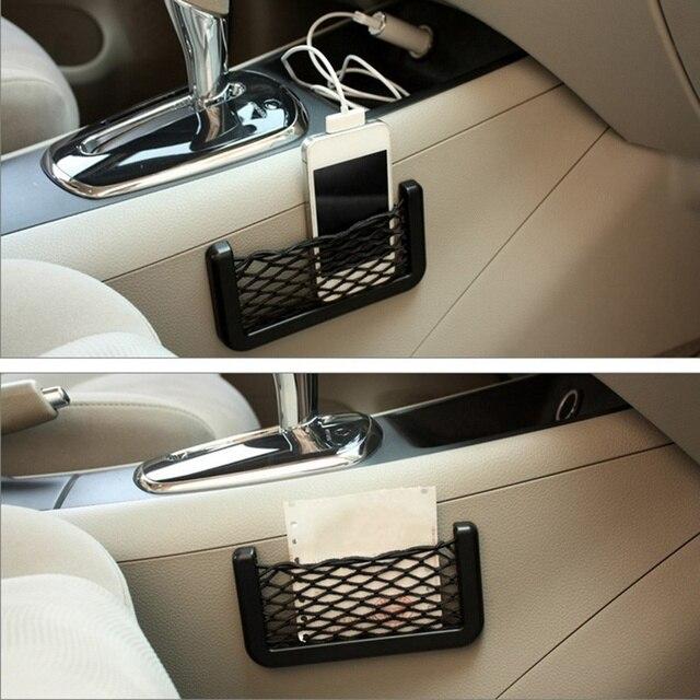 Фото автомобильный сетевой органайзер с карманами который крепится цена