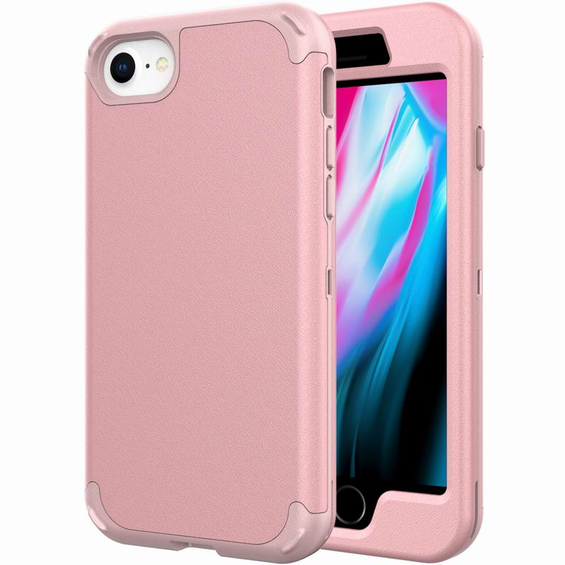 3 In 1 Case For Iphone 7 8 Hybrid Tough Armor Protective Cover For Iphone SE 2020 Back Shell
