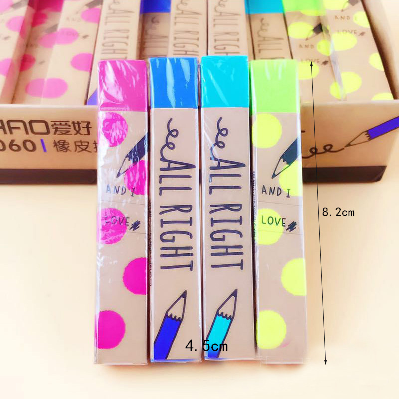 4 Pcs/lot Mini Kawaii Fruit Pencil Erasers Candy Color Rubber Eraser Correction Supply For Painting Gift Office Scool Supply