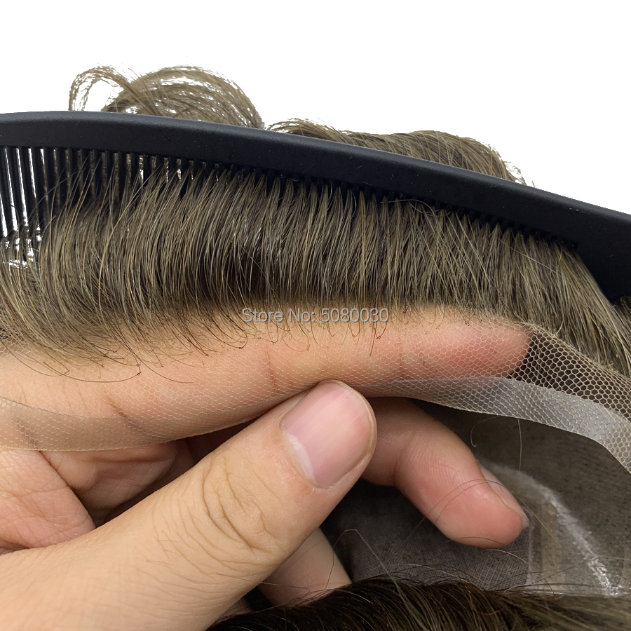 Natural Hairline Single Knot Man Weave Men Toupee Hair Pieces Human Hair