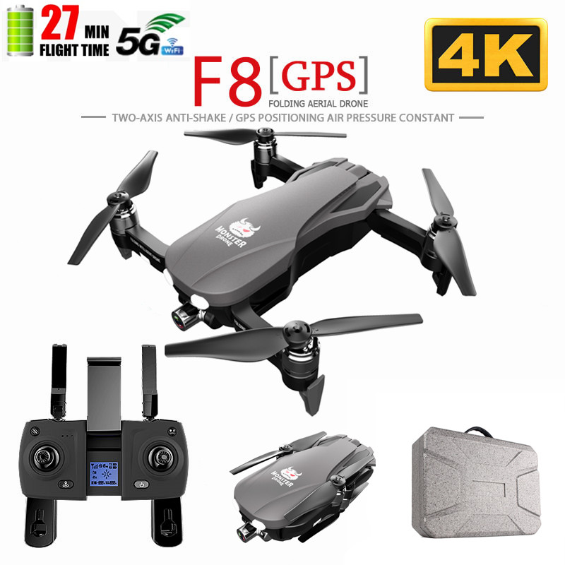 F8 <font><b>GPS</b></font> <font><b>Drone</b></font> with Two-axis anti-shake Self-stabilizing gimbal Wifi FPV <font><b>1080P</b></font> 4K Camera Brushless RC Quadcopter image