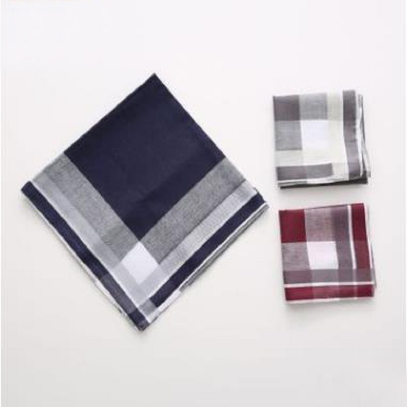 12pcs 40*40cm New 100% Cotton Handkerchiefs Business Men Handkerchief