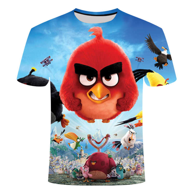 2019 New Arrival 3D Printed The Angry Birds Movie 2 T Shirt Women Men Casual Short Sleeve Angry Birds 2 Summer Streetwear Tops