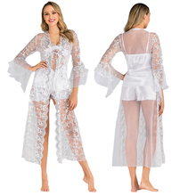 Sexy Women Lingerie for Bride Pajamas Vino Wedding Robes Dress Gown for Women Nightwear Exotic