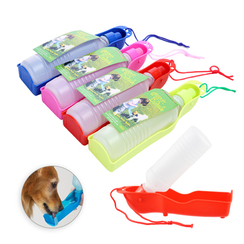 Botella de agua para perro, 250ml, plegable, portátil, para viaje, para beber al aire libre, tazón 1