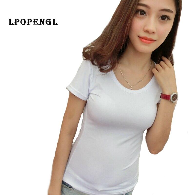 T Shirt Women Clothes 2019 Summer Harajuku Kawaii Solid Black And White Funny T Shirts Women Plus Size T Shirt Summer Tops Shein