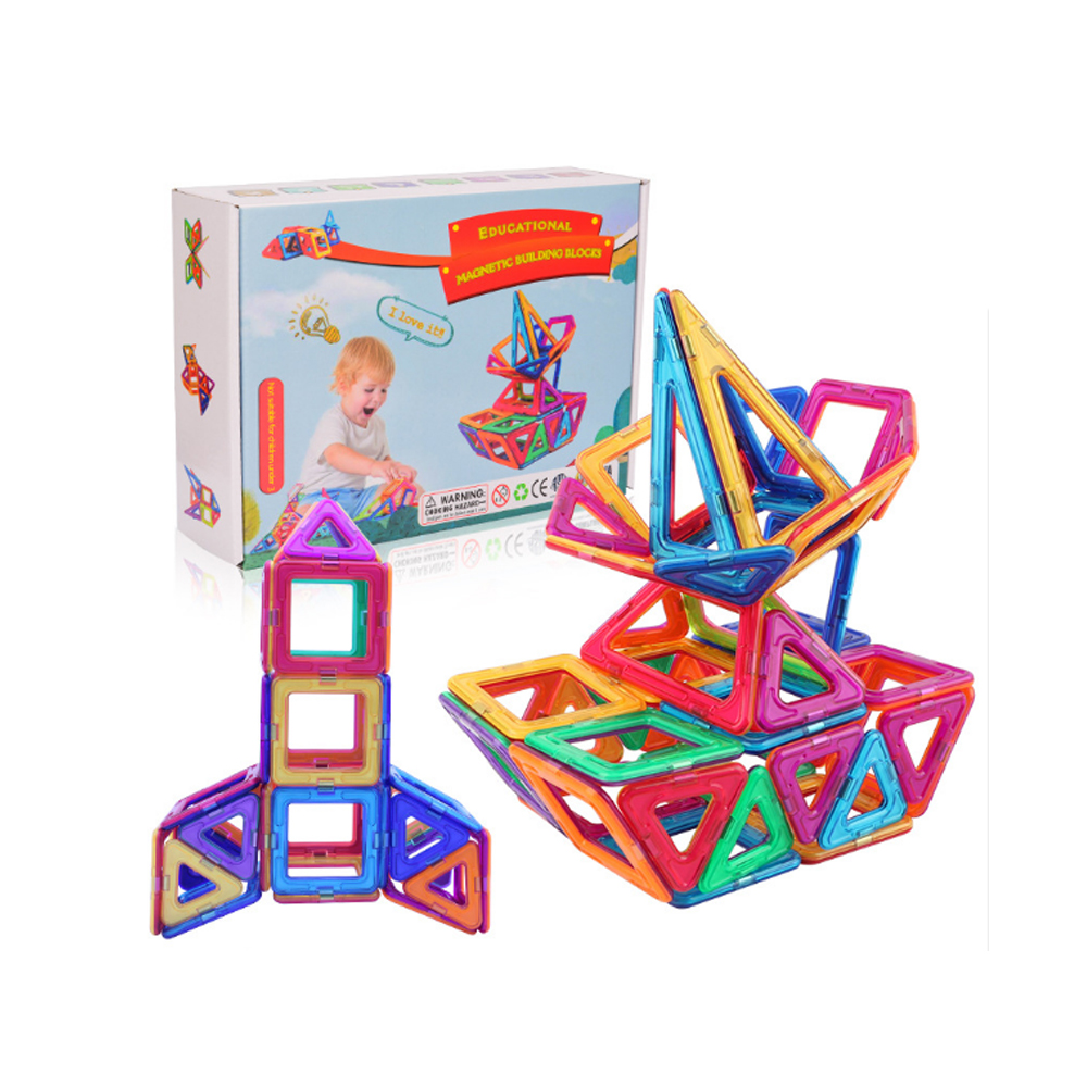 110 PCS Magnetic Bricks Building Blocks Tiles Kids Children Educational Toy Set
