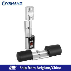 Image 3 - Cerradura de puerta inteligente con cilindro electrónico, pequeña cerradura de puerta con cilindro Digital, con Bluetooth, para el hogar