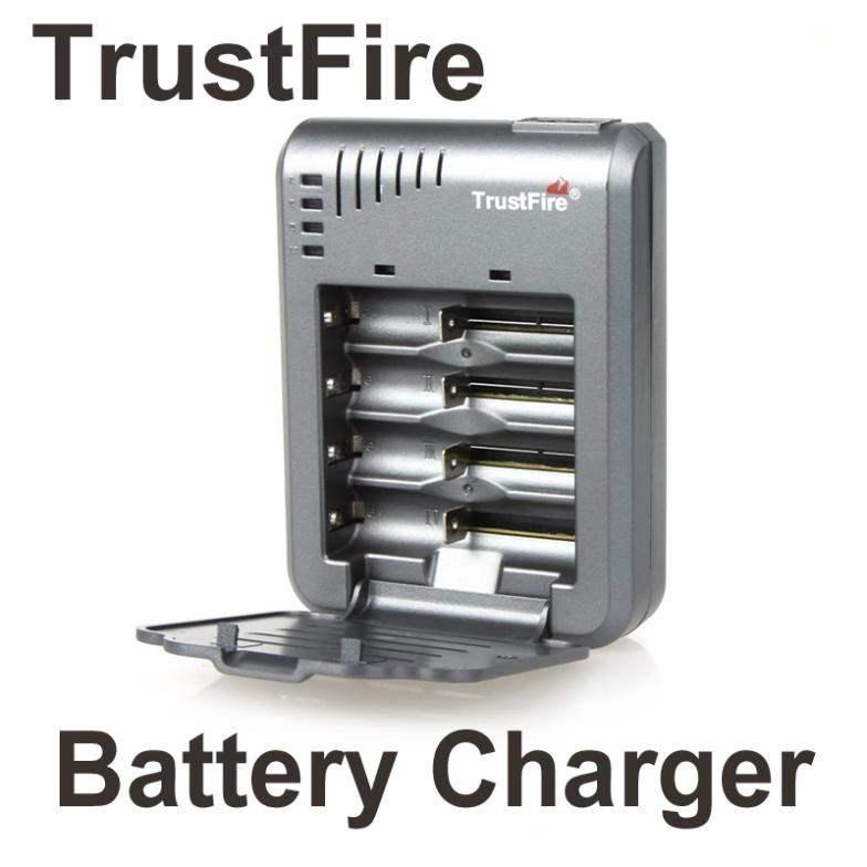 TrustFire cargador Universal 4P cargador de batería de litio TR-003 para 18650, 10430, 10440, 14500 CR123A 17500 Li-Ion 17670 baterías