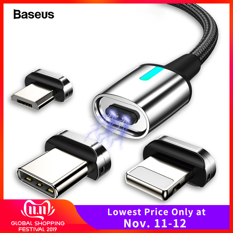 Baseus Magnetic Micro USB Cable For iPhone Samsung Fast Charging Magnet Charger Adapter USB Type C Mobile Phone Cables Wire Cord-in Mobile Phone Cables from Cellphones & Telecommunications on AliExpress - 11.11_Double 11_Singles' Day