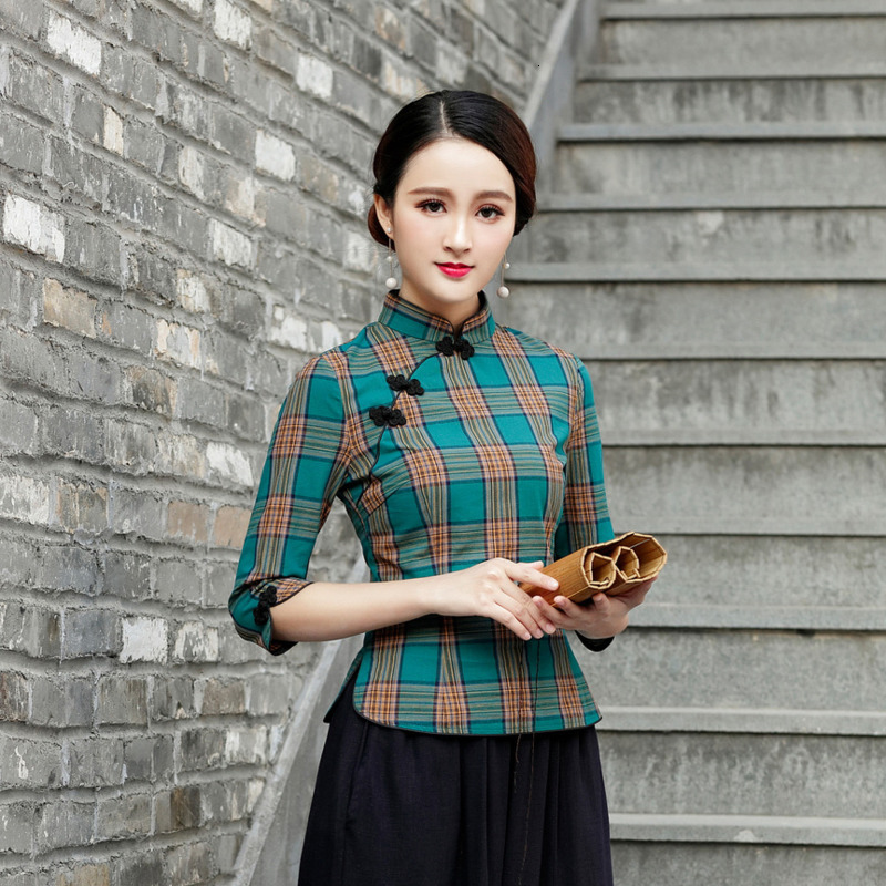 SHENG COCO Chinese Tops Camisa China Mujer Modern Chinese Style  Cheongsam Blouse Retro Qipao Shirt Traditional Clothing Tops