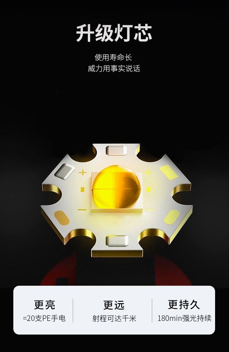 lâmpada trabalho em casa 18650 lanterna zoomable
