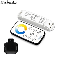 Bincolor T5 + R3 CCT Touch Controller CW NW WW LED Strip Controller RF Wireless Remote DC12V 24V 5A*3CH