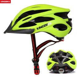 KINGBIKE kask rowerowy rower zielony superlekki kask rowerowy w formie MTB z daszkiem oddychająca droga rower górski kask