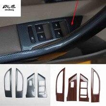 4ชิ้น/ล็อต ABS คาร์บอนไฟเบอร์ Grain หรือรถไม้หน้าต่างแผงตกแต่งสำหรับ2009 2014 OPEL ASTRA J P10