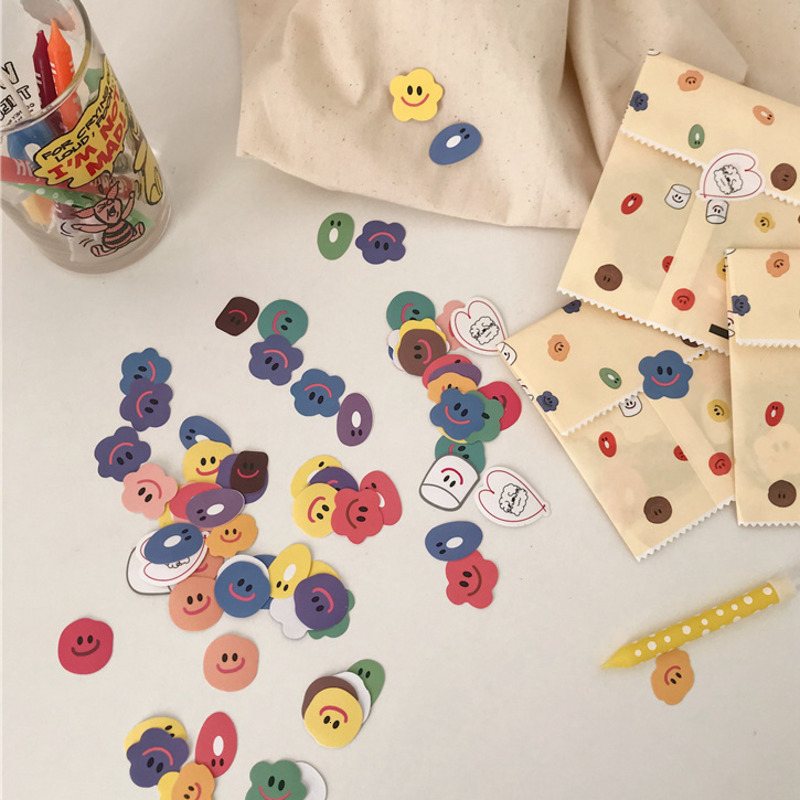 110 Pcs/pack Cute Candy Color Smiley Stickers Super Multi Sealing Sticker Student Diy Material School Office Decoration Tools