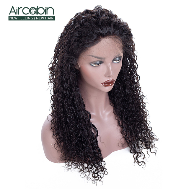 "AirCabin 13x4 Brazilian Kinky Curly Lace Front Wigs 12""-24"" Pre-Plucked Remy Hair Wig with Baby Hair Lace Front Human Hair Wigs 3"