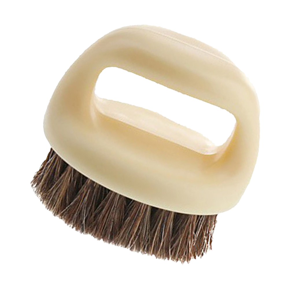 Round Shoe Shine Brush Non Scratch Horsehair Leather Bag Shoes Care Practical Polish Tool