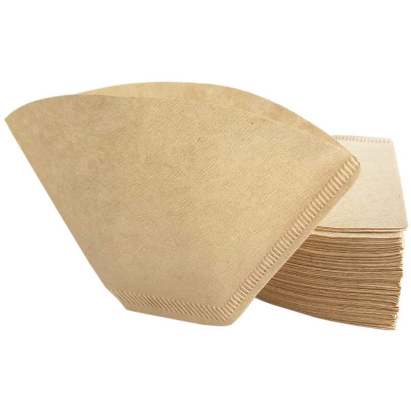 4 Paper Coffee Filter-Natural Brown Conical Disposable Coffee Inverted Conical Coffee Dripper Filter (160 Counts)