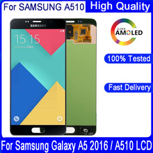 Original 5.2 Super AMOLED For SAMSUNG GALAXY A5 2016 A510 A510F A510M SM A510F LCD Display Touch Screen Digitizer Assembly