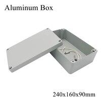 FA64-2 260x160x90mm ip65 à prova dwaterproof água caixa de junção de alumínio eletrônico terminal selado diecast metal gabinete caso conector