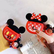 cute cartoon Soft Silicone flow  liquid Earphone Case For Apple Airpods Charging Headphones Cases for 2 Protective