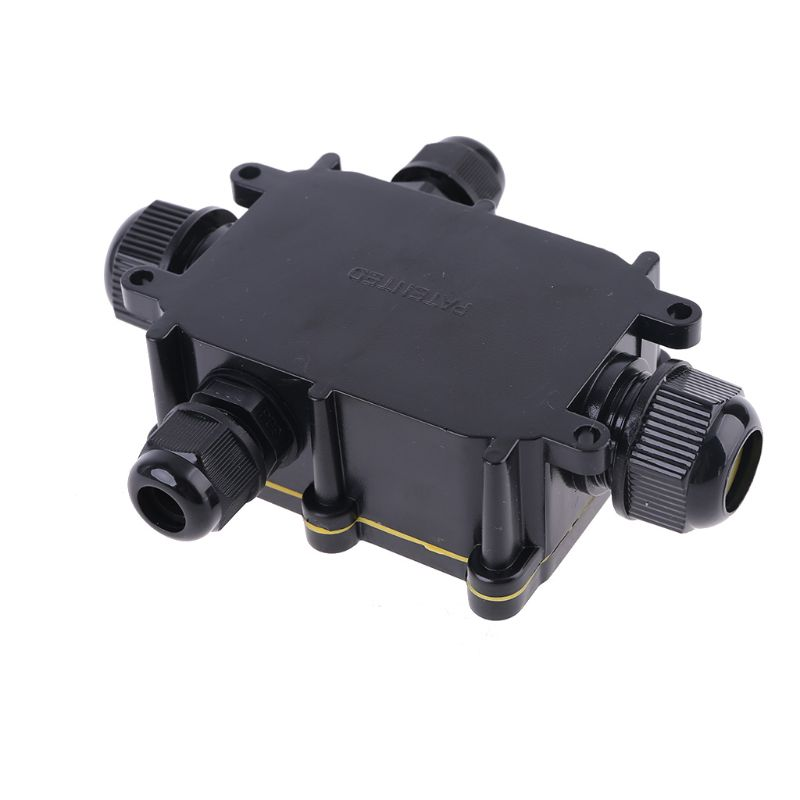 Junction Junction Box IP68 Waterproof UV Sunproof Outdoor Multiple Ways Plastic Electrical Junction Box Case Cable Wire