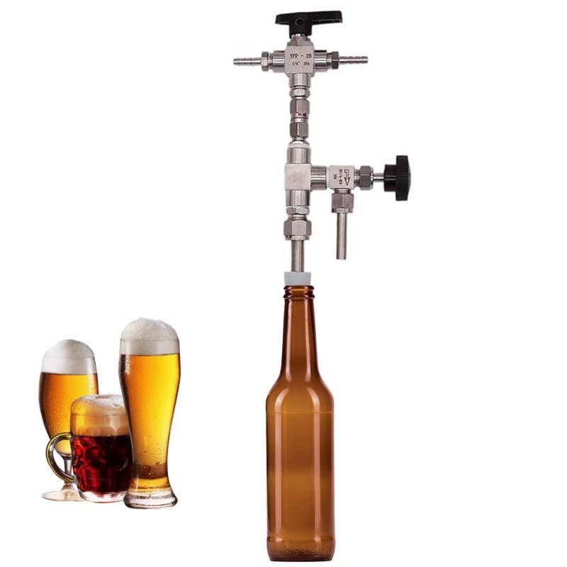 Counter Pressure Bottle Filler 304 Stainless Steel Homebrew Bottling Tool Brand New
