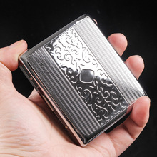 Silver Portable Metal Cigarette Case for 20 Cigarettes Flip Open Traveling Cigarette Container Box Holder Outdoor Smoking1PC