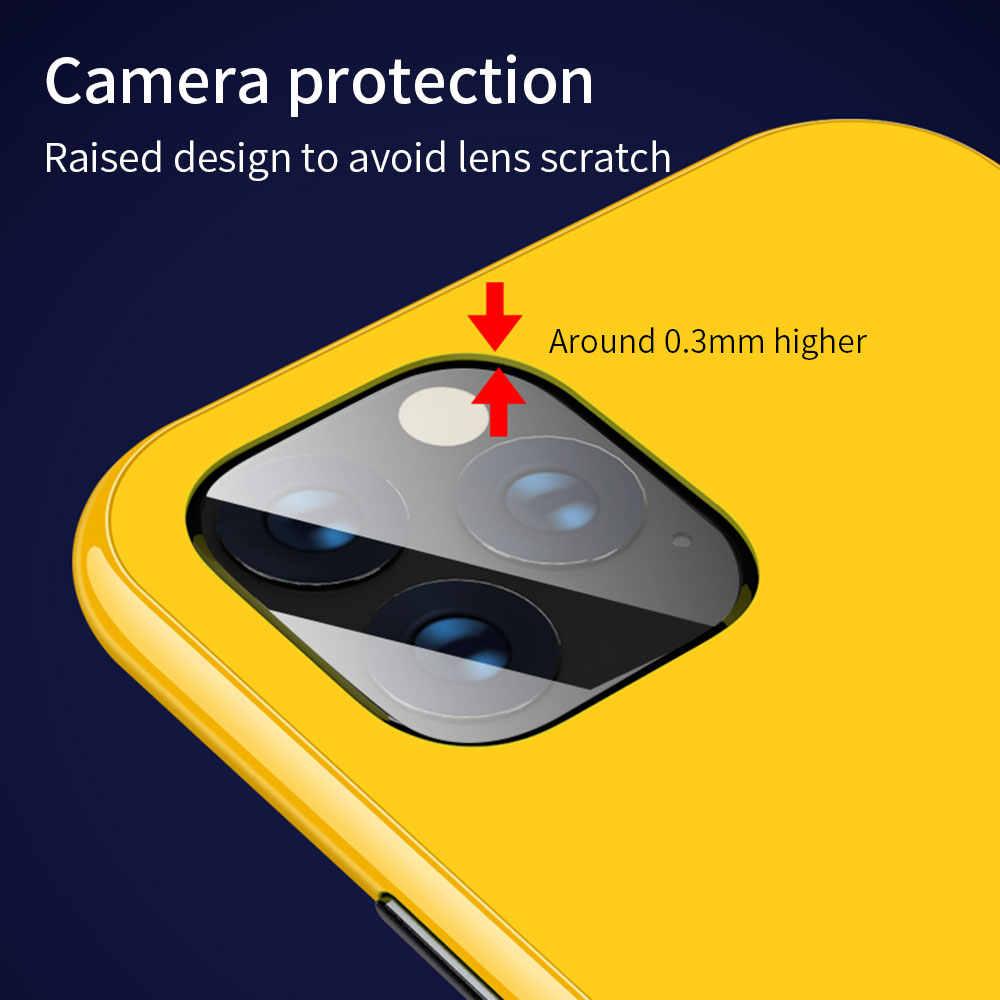Métal Magnétique Coloré étui pour iphone X 7 8 plus 11 Pro Max XR XS MAX Cas Tout compris HD Trempé Verre Aimant coque de téléphone