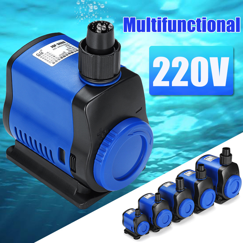 Ultra Silent Submersible Aquarium Water Pump For Fish Tank Fountain Garden Pond Rockery Adjustable Water Filter Pump 500-3500L/h