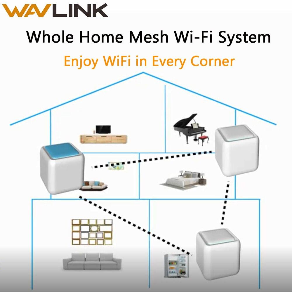 Routeur de maille Wi-Fi sans fil Wavlink toute la maison AC1200 double bande 2.4G/5Ghz Touchlink Wifi intelligent répéteur réseau wifi Gigabit