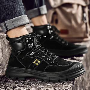 Image 5 - Misalwa Fashion Outdoor Winter Army Boots Mens Military Desert Boots Plush Breathable Working Safty Sneakers Plus Size 38 46