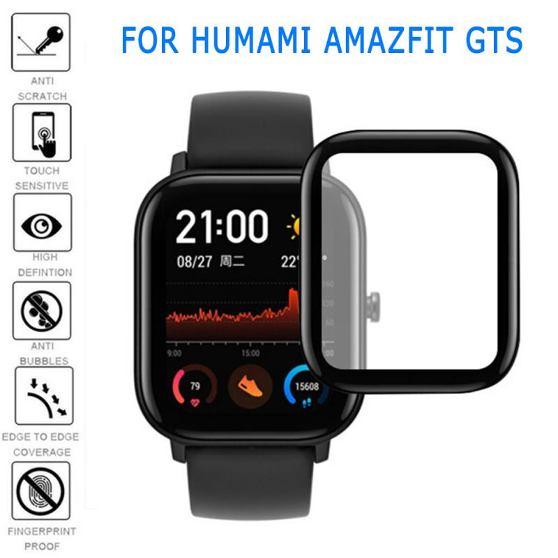 3D Curved Edge Full Coverage Protective Film Cover For Amazfit GTS LCD Screen Soft Clear Watch Protector Guard (Not Glass)
