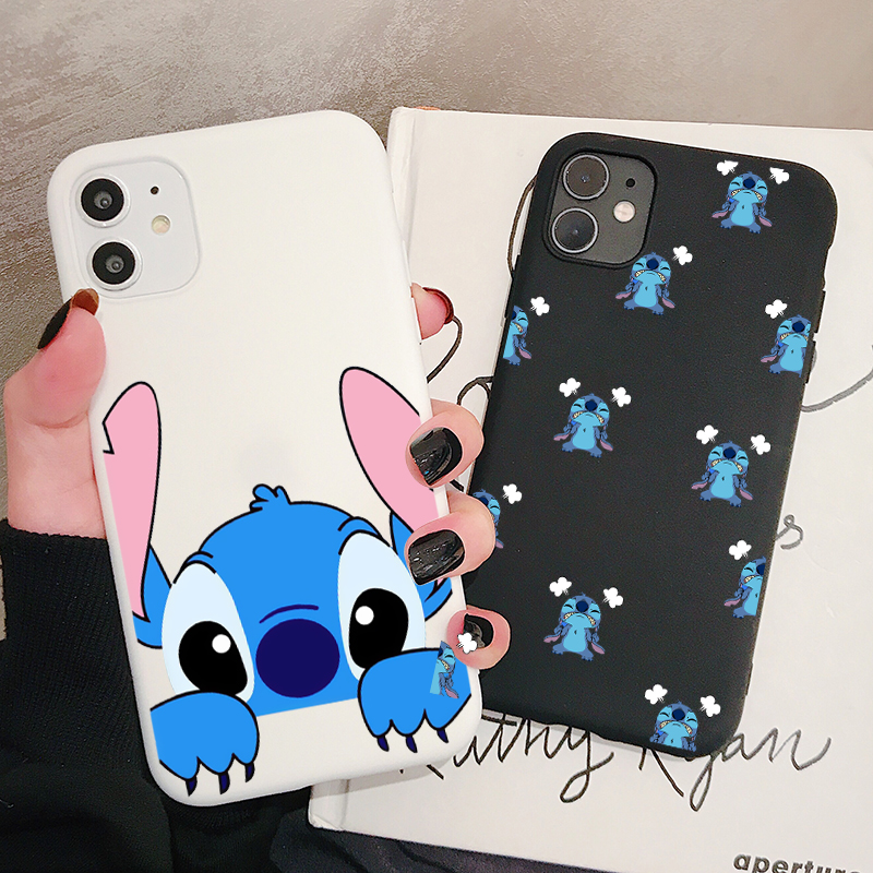 Cartoon Stitch Phone Case For Huawei P40 P30 P20 P10 Pro Lite Plus Frosted Silicone Cases Soft Back Cover