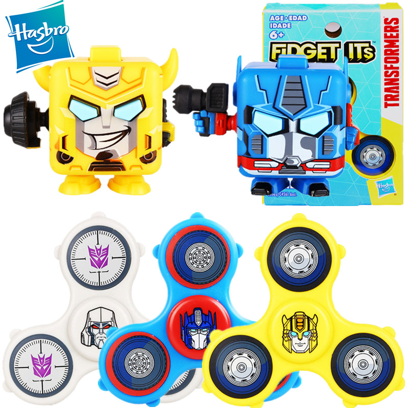 Hasbro Transformers Optimus Prime Bumblebee Fidget Spinner Stress Relief Cube Stress Relief Toy