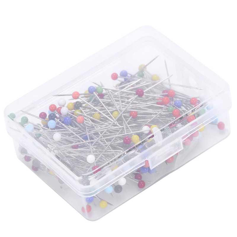 250pcs Sewing Pins Ball Glass Head Pins Straight Quilting Pins 38mm