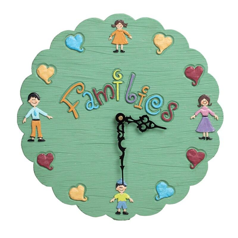 Dessin animé enfants horloge murale créatif filles chambre coloré horloge murale belle Quartz élégant Orologio Parete décoration de la maison SS50WC