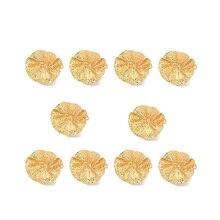 10Pcs Metal Lotus Leaf Napkin Ring Restaurant Napkin Ring Napkin Buckle Jewelry Towel Ring Decoration
